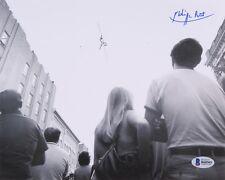 PHILIPPE PETIT SIGNED 8x10 BECKETT COA PHOTO WORLD TRADE CENTER TIGHTROPE WALKER