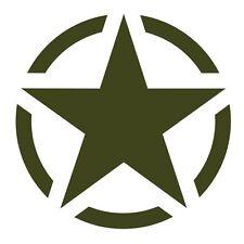Military Green US American Army Star Car Jeep Bumper Vinyl Decal Sticker Badge.