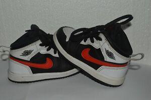 Nike AIR JORDAN RETRO 1 Mid 640735-075 Sneakers Infant size 7C Red Black Light U