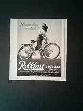 1947 Rollfast Bicycle Girls Bike 6 X 6 1/2 Promo Print Trade AD