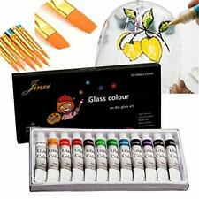Jinzi Stain Glass Paint, Non-Toxic Window Paint, Permanent Glass Paint Kit,