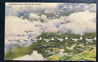 1942 Alamogordo NM USA Army Air Base PO Picture Postcard Cover Formation Flying