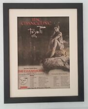 TOYAH*The Changeling*Tour*1982*ORIGINAL*POSTER*AD*QUALITY*FRAMED*FAST WORLD SHIP