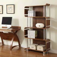 Erast Walnut Wood Curve Bookcase