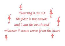 Dancing is a art  Wall Art - Wall Quote Sticker - Art Decor