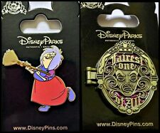 Disney Parks 2 Pin Lot Madam Mim Villain + Fairest One of All hinged mirror