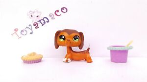 Original LPS Littlest Pet Shop : Dachshund SAVANNAH #675  -Free Shipping-