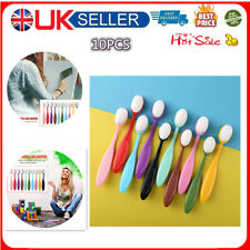 10 pieces of color ink brush smooth blending tool painting flat brush kit-UK