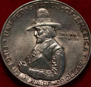 1920 Pilgrim Tercentenary Celebration Silver Comm Half