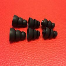 6pcs S/M/L Triple Flange Noise Isolation Replacements earbud Tips