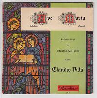 """VILLA Claudio Vinyle 45T EP 7"""" AVE MARIA Scubert Gounod E DEL PINO VISADISC 243"""