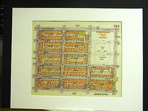 Brooklyn Map 1929 Matted SUTTER BLAKE AMBOY HOPKINSON BETSY HEAD BARRETT LIVONIA