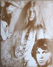 "Janis Joplin Sepia Poster Print Hendrix & Morrison 11"" X 14"" Sepia Poster New"