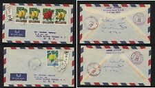 Lebanon  2 nice registered covers to US stamp dealer 1962          EX0906