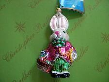 Christopher Radko Easter Bunny Time Glass Ornament