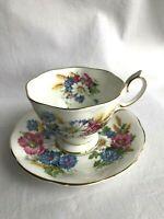 Vintage Royal Albert English Bone China Tea Cup & Saucer Harvest Bouquet EUC