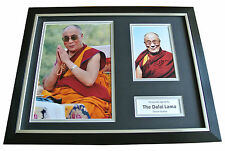Dalai Lama Signed FRAMED Photo Autograph 16x12 Display Tenzin Gyatso & COA