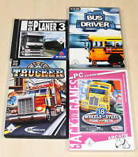4 PC SPIELE SAMMLUNG TRUCKER 18 WHEELS OF STEEL BUS DRIVER PLANER FAHR SIMULATOR