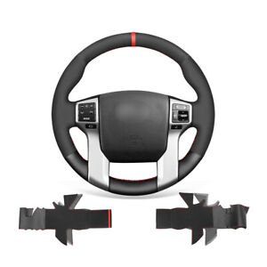 Soft Non-slip Black Suede Car Steering Wheel Cover Wrap For Toyota Land Cruiser
