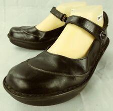 Naot Womens Shoes Mary Jane EU 41 US 10 Black Leather Hook Loop Wedge Heels 629