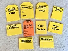 50 YELLOW Price Tags Consignment Store Tags Garage Sales Clearance Price Signs
