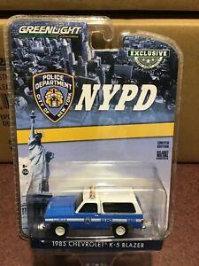 Greenlight Hobby Exclusive 1985 Chevrolet K-5 Blazer NYPD New York