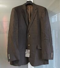 JOHN LEWIS  - 42L 32R - DARK BROWN LINEN SINGLE BREASTED TAILORED SUIT