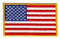 bb71 Flagge USA Stars and Stripes Biker Aufnäher Bügelbild Patch Applikation