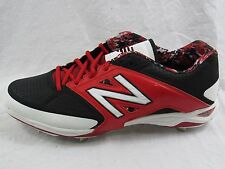 New Balance Men's Red & Black Baseball Cleat Shoes - Size 15 2EW