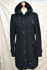womens Gorgeous G-STAR raw WOOL PARKA LONG COAT jacket size L uk 12-14