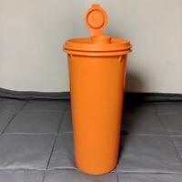 """Vintage Tupperware Orange Round 8.5"""" Handolier Juice Pitcher 262 With Lid 603"""