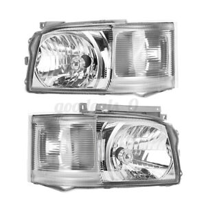 Left+Right Head Light Lamp Headlight For Toyota Hiace TRH KDH Van Bus 2005~2010