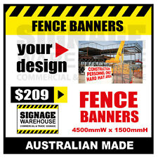 Custom Outdoor Fence Mesh Banner Sign Wrap - 4500mmW x 1500mmH Signage Warehouse