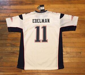 NWT Julian Edelman New England Patriots NFL Jersey White Size Youth XL (18-20)