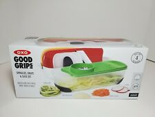OXO Good Grips Spiralize Grate & Slice Set w/ 4 Blades New in Box