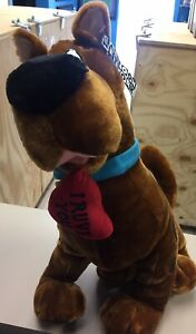 Scooby Doo Extra Large Plush Heart Hanna Barbera Valentines Day 20 inches