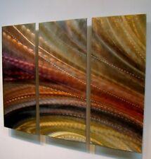 Modern Abstract Metal Wall Art Brown Painting Original Home Decor Jon Allen