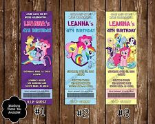 My Little Pony Birthday Invitations - 20 Pack - 3 Designs
