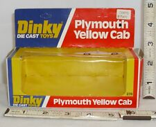 DINKY PLYMOUTH YELLOW CAB TAXI DIE-CAST TOY #278 BOX ONLY