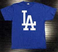 Los Angeles Dodgers T-Shirt Graphic Cotton Logo LA LAD Jersey Men Adult