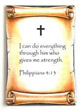 Philippians 4:13 Bible Verse FRIDGE MAGNET (2 x 3 inches) christian catholic