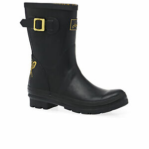 Joules Molly Womens Boots Wellington - Gold Bee All Sizes