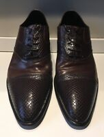 DOUCAL'S Brown Combo Leather Lace-Ups - Mens Size 46 EU / 13 US - Made in Italy