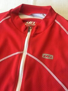 Louis Garneau Men's Cycling Bicycle Red Jersey Size Large