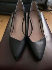 M&S Black  Leather Heeled M&S Collection Shoes Size 7