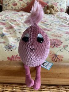 "Rare Retired Jellycat I AM PINK TOPAZ FABBYEGG  Soft Toy Plush - Brand New  9"""