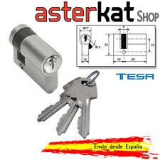 Cerradura Tesa TE5 estandar Europeo 5200 30 10 Bombillo Niquel Cilindro 3 llaves