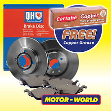 Genuine QH Front Brake Discs & Pads Set + Grease Fits Toyota Citroen Peugeot
