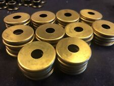 "1 1/4"" Brass Tone Check Rings W/ 3/8"" Hole 50 Pcs"