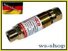 GCE Rückschlagsicherung; Gebrauchsstellenvorlage für Brenngas (Acetylen, Propan)